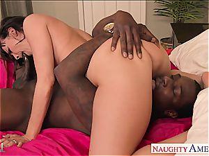 molten black-haired Dana DeArmond gets butt dark-hued bashed