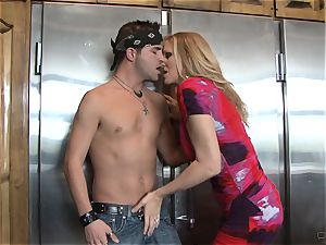 Julia Ann gets her hands on a toyboy dick for boink joy