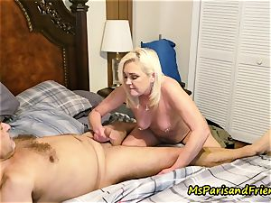 Ms Paris Rose in pee play foreplay