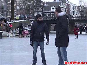 curvaceous amsterdam hooker being doggystyled