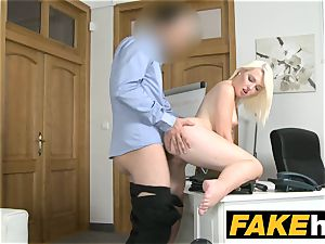 fake Agent torrid european blonde cutie loves rear end style
