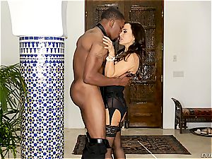 elegant Lisa Ann rides a large and young bbc