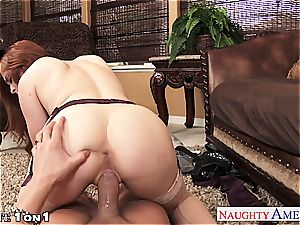Ginger Penny Pax in point of view getting her honeypot rode