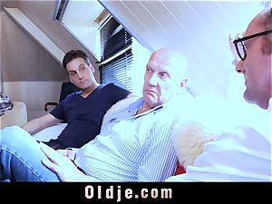 6 oldman porking in group a killer super hot ash-blonde