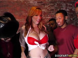 Lauren Phillips interracial group sex