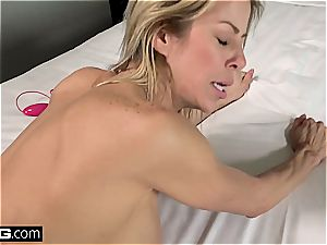 super-naughty milf with gigantic hooters gets sprayed with spunk