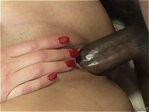 humungous dark-hued stiffy pulverizing horny stepdaughter