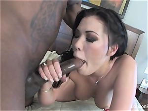London Keyes takes some dark-hued rod on her ass