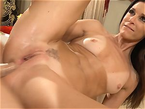 cougar India Summers gets analled in the bathroom