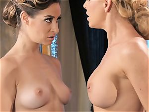 Dancing turns sloppy with Cherie Deville and Cassidy Klein