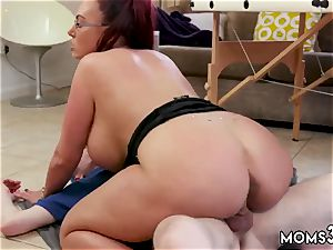 latin nubile cushion and perspiring ginormous melon Step-Mom Gets a massage