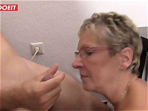 LETSDOEIT - granny Gets twat rammed With youthful weenie