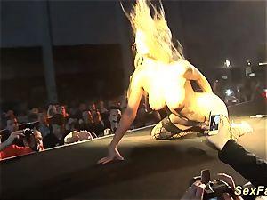 German stepmom bare on stage
