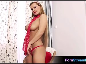 splendid big-titted stunner Dorothy black faux-cock have fun