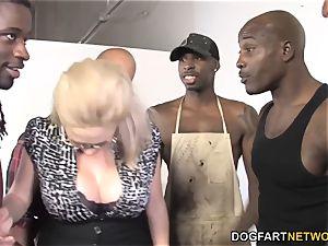 Katie Kox big black cock gang-fuck