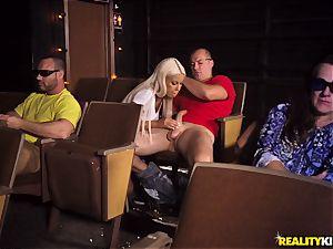 Cinema lollipop throating huge-chested Bridgette B
