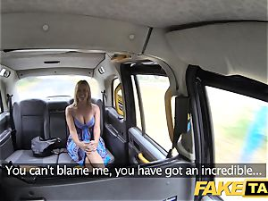 faux taxi Mum with congenital bra-stuffers gets big british manmeat