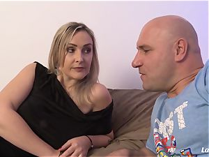 LA newcummer - super-fucking-hot French amateur mummy plowed hard-core