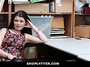 Shoplyfter - A stiff drill punishment For Rebelious nubile