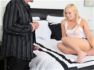 Bailey Brooke bouncing on her friends dad immense fuck-stick
