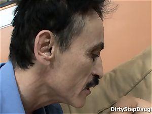 Stepdaughter Kristina Rose Caught dad observing pornography
