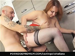 audition ALLA ITALIANA - Italian mature deep buttfuck plow
