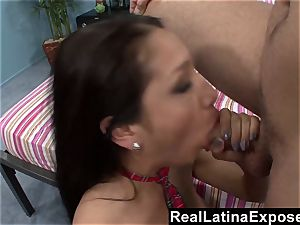 RealLatinaExposed Latina college girl Learns