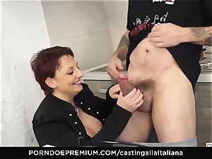 casting ALLA ITALIANA Mature ginger-haired butt plowed deep
