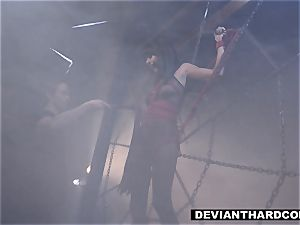 DeviantHardcore - Waterboarding teen With rod