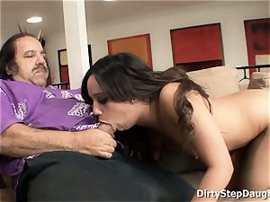 Stepdaughter Lynn enjoy tempts parent Ron Jeremy To tear up