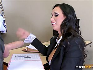 warm lawyer Nikki Benz getting screwed by a massive salami