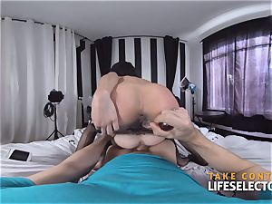 Piper and Holly - petite 3some