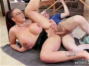 associates mom card game and cougar double xxx massive orb Step-Mom Gets a rubdown