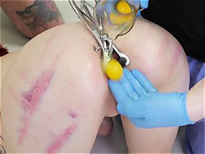 additional perverse domination & submission ass-fuck 3some with poor mega-bitch