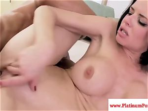 Veronica Avluv deepthroats and humps hard manstick and loves it