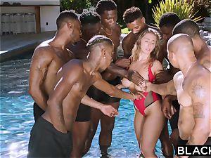 BLACKED Lena Paul first-ever bi-racial group sex