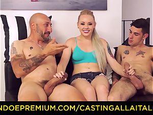 CASTNG ALLA ITALIANA - platinum-blonde vixen harsh dp hookup