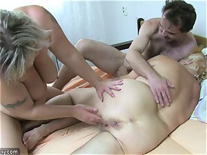 OldNanny granny and mature jacked unshaved cooter