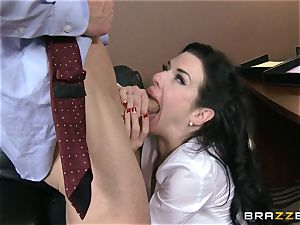 Veronica Avluv gets sloppy in the office and her chief finds out