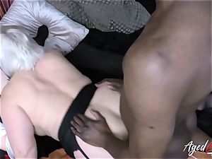 AgedLovE Lacey Starr bi-racial three-way