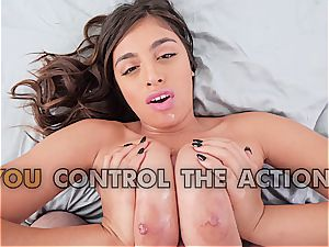Ella Knox face and tittyfucked in point of view
