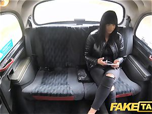 faux taxi appetizing warm brunette luvs Czech lollipop
