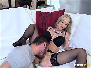 Club owner Brandi enjoy tests out a fresh toyboy boner