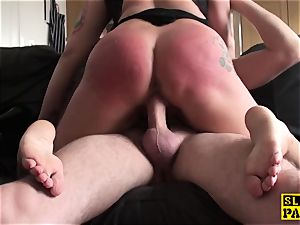 Bigtitted brit gimp humiliated by male domination