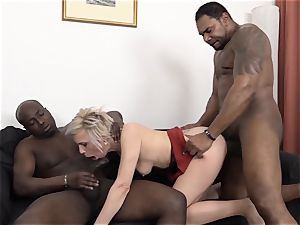 Mature Gets black hard-ons In cootchie And facehole loves harsh