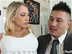 stunner plowed While Other couple observes