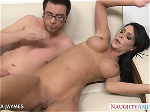 buxomy dark haired Jessica Jaymes gets humped